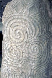Stone carving at Newgrange..ciirca 5,000 BC